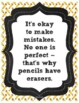 Inspirational Classroom Quote Posters ~ Chalkboard Themed