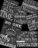 Inspirational Classroom Quotes in Chalkboard theme