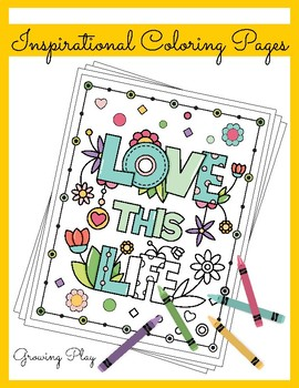 Inspirational Coloring Book - Positive Affirmations and Motivational Quotes