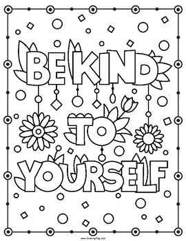 Positive Affirmation Coloring Pages Quotes Sketch Coloring ...