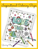 Inspirational Coloring Book - Positive Affirmations and Mo