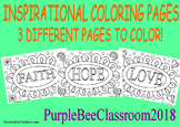 Inspirational Coloring Pages-FAITH, HOPE and LOVE
