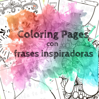 Inspirational Coloring Pages in Spanish (14 pages)