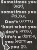 Inspirational Country Lyric Posters {10 in Black & White C