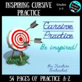 Cursive Practice on PowerPoint