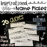 Inspirational Desk Name Plates~ with place value
