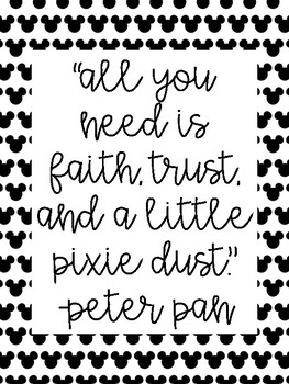 Inspirational Disney/Pixar Quotes for the Classroom 50+ Posters