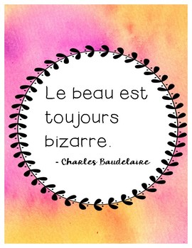 Inspirational French Quotes For The Classroom By Tea Time Teacher Fsl