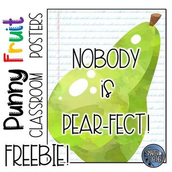 Inspirational Fruit Classroom Decor Poster Sample