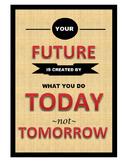 Inspirational Future Poster-Tan Texture