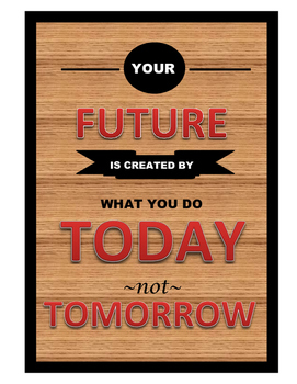 Inspirational Future Poster-Wood Grain