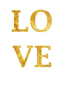"""Inspirational Gold Foil Printable """"LOVE"""" Quote"""