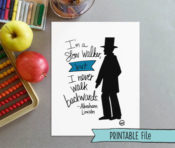 Inspirational Hand-lettered Abraham Lincoln Quote Poster