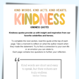 Inspirational Kindness Journal: Kindness Quotes
