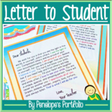 Welcome or End of the Year Letter to Student