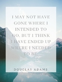 Inspirational Literary Quote Classroom Poster