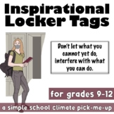Inspirational Locker Tags for a School Climate Pick-Me-Up