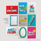 Inspirational | Lunch Box Notes for Kids | Printable Cards | School Notecards