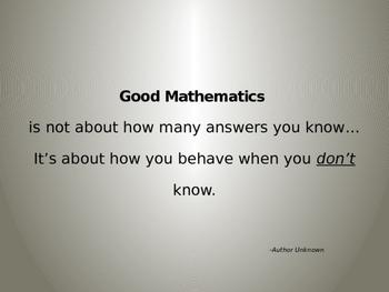 Inspirational Math Poster