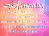 """Inspirational Math Poster 36"""" x 48"""""""
