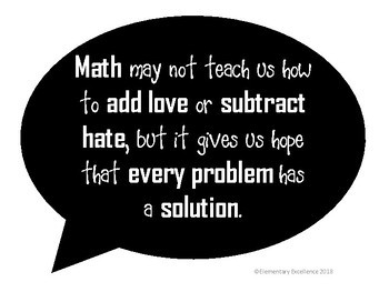 Inspirational Math Quotes Posters