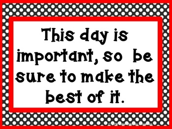 Inspirational Messages Room Decor-Black and Red without Clip Art