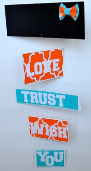Classroom Decoration-  Personalized Mobile - Orange and Blue