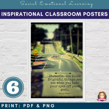 Inspirational & Motivational Poster Bundle (6) Values & Character Education