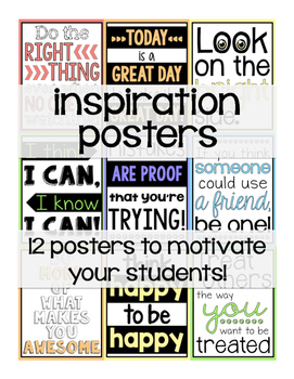 Growth Mindset/Motivational Posters for any classroom!