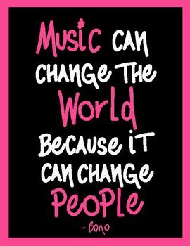 Inspirational Music Poster