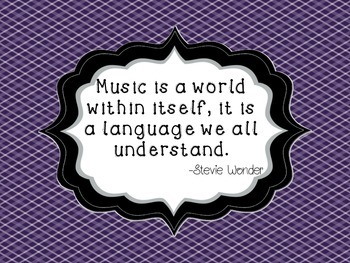 Inspirational Music Quote Posters