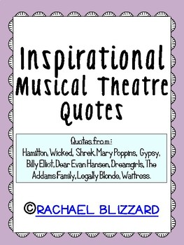 Inspirational Musical Theatre Quotes-In pastel