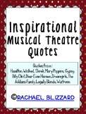 Inspirational Musical Theatre Quotes- With Gold