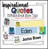 Inspirational Name Tags   Desk Plates - Editable