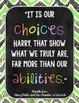 Inspirational Novel Quotes: Classroom Posters
