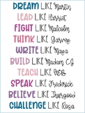 Inspirational People Bulletin Board Letters