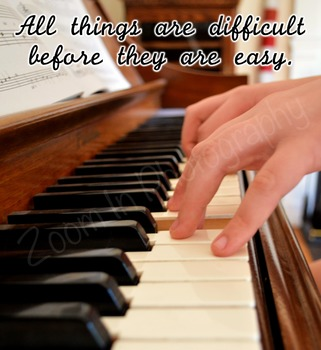 Inspirational Piano Poster