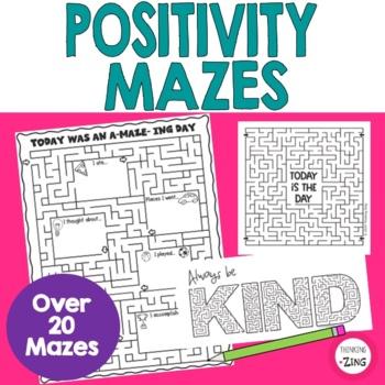 Inspirational Positive Message Mazes Set 2