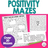 Inspirational Positive Message Mazes Activity Sheets and C