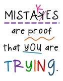 Inspirational Positive Mistakes Classroom Poster