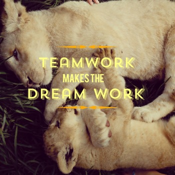 Inspirational Poster, Lions