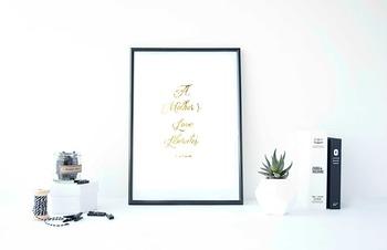 "Inspirational Poster, ""A Mothers Love Liberates."" -Maya Angelou"