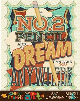 Inspirational Poster A Pencil and a Dream