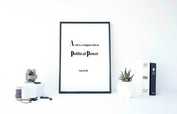 """Inspirational Poster, """"A cult is a religion with no political power"""" -Tom Wolfe-"""