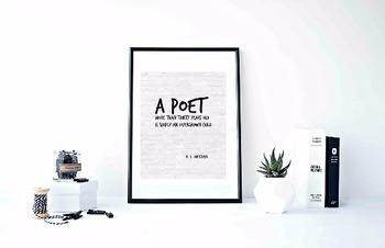 "Inspirational Poster, ""A poet more than thirtyl"" -H. L. Mencken-"