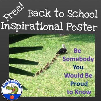 Back to School Inspirational Poster - FREE
