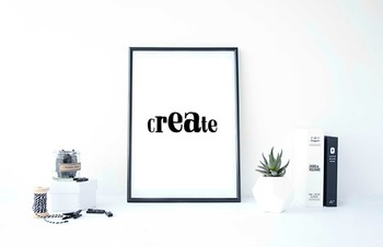 "Inspirational Poster ""Create"" -Isaiah-"