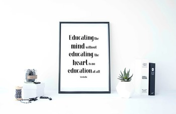 """Inspirational Poster """"Educating the mind """" -Aristotle-"""