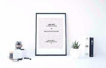 "Inspirational Poster, ""Every artist dips his brush"" -Henry Ward Beecher-"