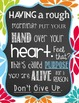 """Inspirational Poster FREE """"Never Give Up!"""""""